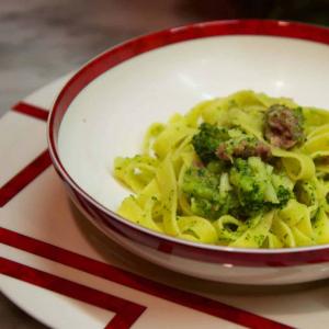 tagliatelle-broccoli-cotechino
